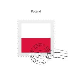 Poland Flag Postage Stamp vector