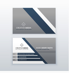 Professional modern business card creative vector