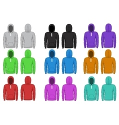 Raglan hoodie template vector