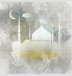 ramadan kareem arabic greeting card islamic vector image