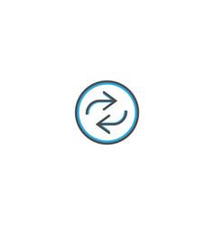 repeat icon design essential icon vector image