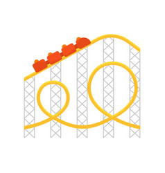 Roller coastericon for web vector