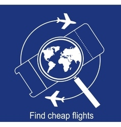 Search airline tickets vector