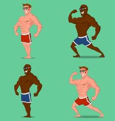 set bodybuilders vector image