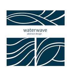 Set water wave logo abstract design vector