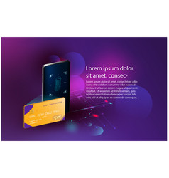 Smart security finger print credit cards controls vector