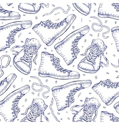 Sneakers Seamless background vector image