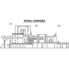 Spain cordoba architecture line skyline vector