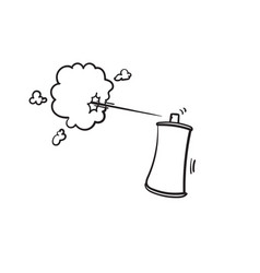 Spray can icon with hand drawn doodle cartoon vector