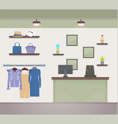 Store collection of clothes vector