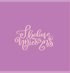 summer unicorn lettering quote hand drawn poster vector image