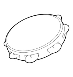 Tambourine icon outline isometric style vector