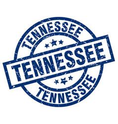 Tennessee blue round grunge stamp vector
