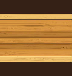 texture of brown wooden with horizontal planks vector image