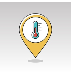 Thermometer Heat pin map icon Weather vector