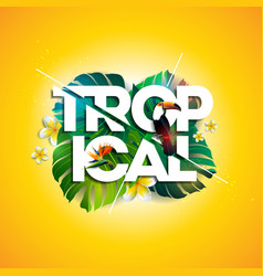 Tropical holiday typographic vector