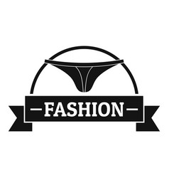 Underpant fashion logo simple black style vector