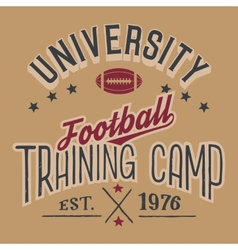 University football training camp vector image