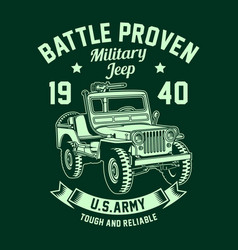 vintage american military jeep graphic vector image