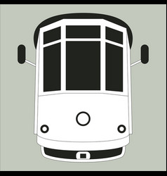 vintage tram flat style vector image