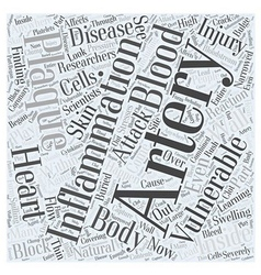 Vulnerable Plaque in Heart Disease Word Cloud vector