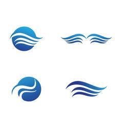 Waves beach logo and symbols vector