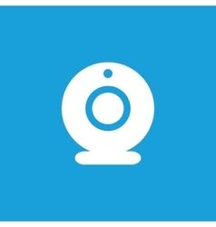 Web camera icon white vector