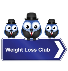 WEIGHT LOSS CLUB vector image