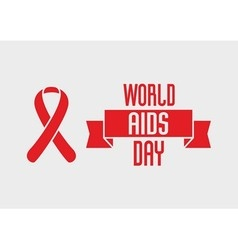 World Aids Day design concept with red ribbon of vector