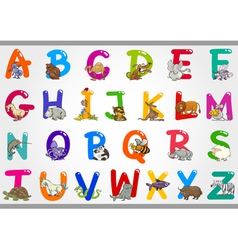 Cartoon Alphabet with Animals vector image vector image