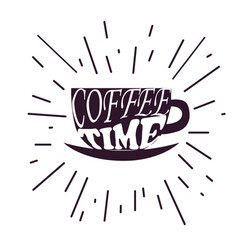 coffee time hipster vintage vector image