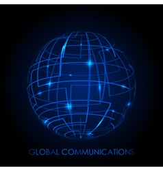 Global communications - background vector image vector image