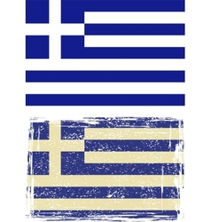 Greek grunge flag vector image vector image