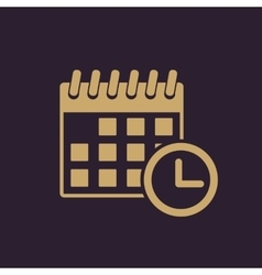 The calendar icon Reminder and event time symbol vector image