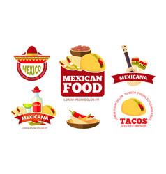 vintage mexican restaurant graphics tacos vector image