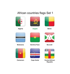 African countries flags set 1 vector image vector image
