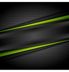 Dark green black tech abstract background vector