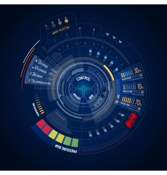 Futuristic user interface HUD vector image vector image