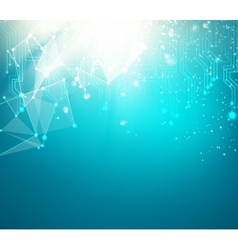 Abstract blue science background vector image vector image