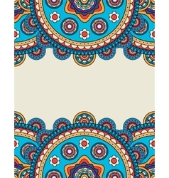 Indian doodle floral borders frame vector image vector image