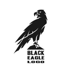monochrome eagle logo vector image
