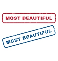 Most Beautiful Rubber Stamps vector image