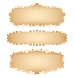 Old scroll set vector image vector image
