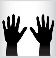 Pair of black hands background vector