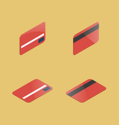 set of plastic cards vector image