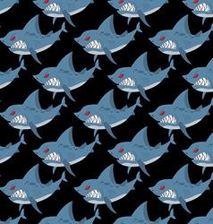 Shark seamless pattern Many angry ferocious marine vector image