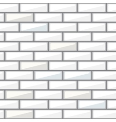 White brick wall seamless pattern vector image