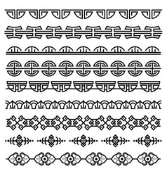 chinese decoration traditional antique korean vector image vector image