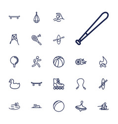 22 activity icons vector