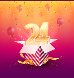 24 th years anniversary design element vector image